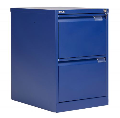 Bisley 2 Drawer Classic Steel Filing Cabinet - Blue