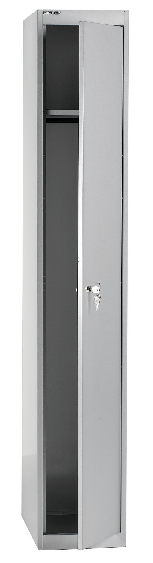 Bisley 1 Door 45.7 Wardrobe Locker - Goose Grey