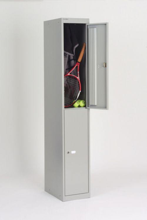 Bisley 2 Door 45.7 Locker - Goose Grey