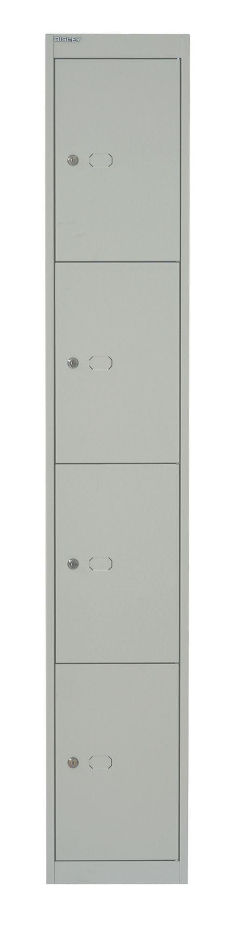 Bisley 4 Door 45.7 Locker - Goose Grey