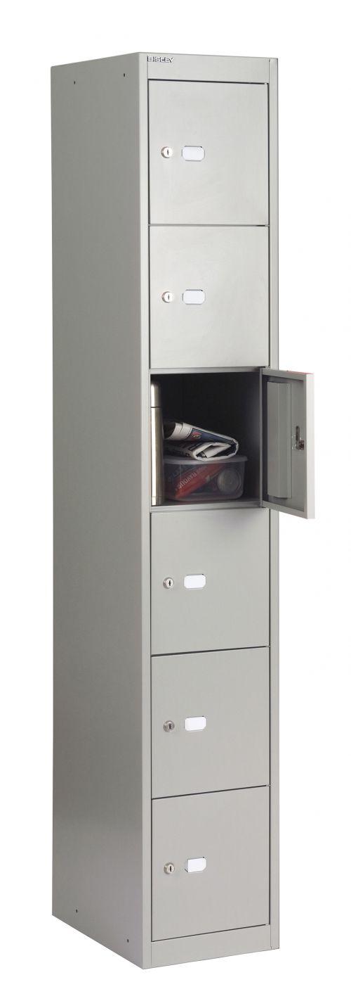 Bisley 6 Door 45.7 Locker - Goose Grey