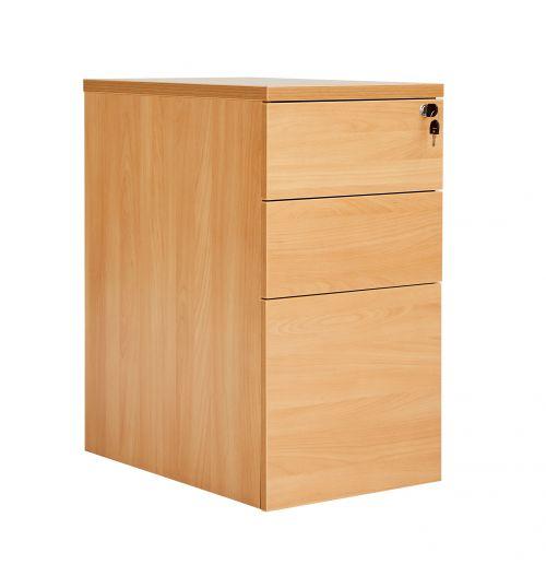 Workmode 3 Drawer Desk High 60 Pedestal - Beech