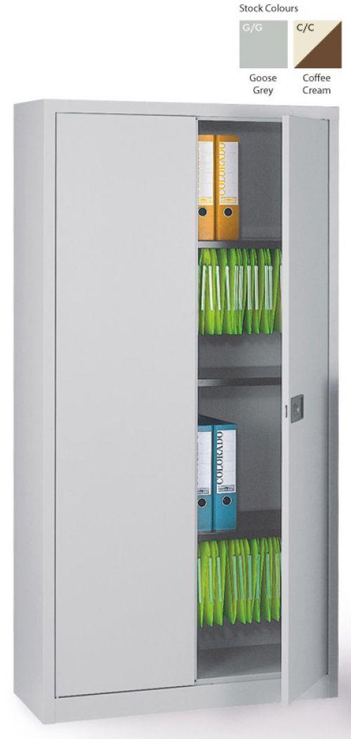 Context Storage 2 Door Cupboard 3 Shelves Coffee Cream1806h mm E722AO3-av5av6