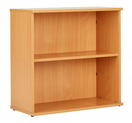 Eco 18 Desk High 75 Bookcase inc. 1 Shelf - Beech