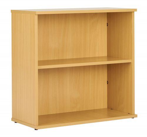 Eco 18 Desk High 75 Bookcase inc. 1 Shelf - Oak