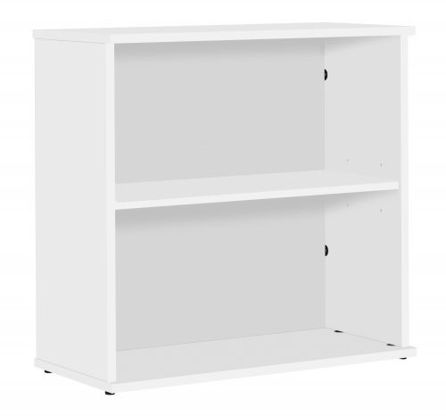 Eco 18 Desk High 75 Bookcase inc. 1 Shelf - White