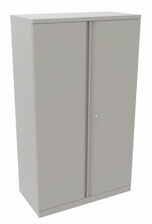 Bisley Essentials 2 Door Cupboard Goose Grey 1570h x 914w [YECB0915]