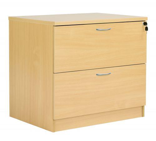 Fraction Plus Desk High Lateral Filing Cabinet - Nova Oak