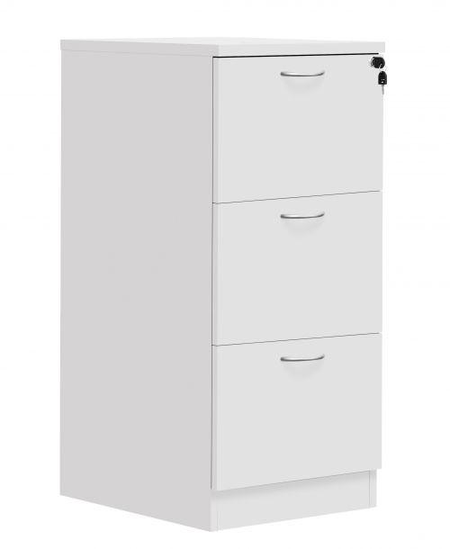 Fraction Plus 3 Drawer Filing Cabinet - White