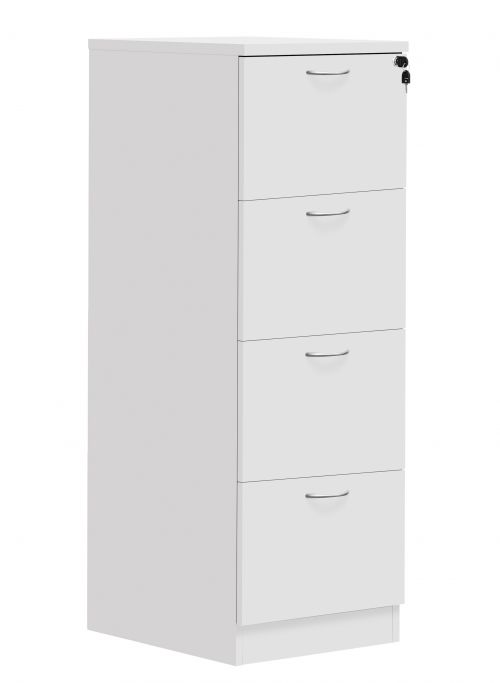 Fraction Plus 4 Drawer Filing Cabinet - White