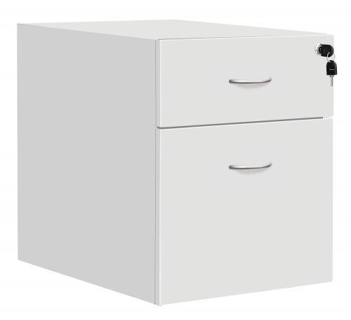 Fraction Plus 2 Drawer Fixed Pedestal - White