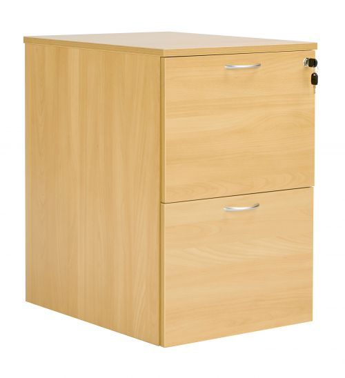 Workmode 2 Drawer Filing Cabinet - Oak