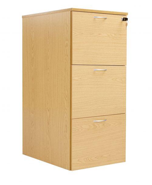 Workmode 3 Drawer Filing Cabinet - Oak