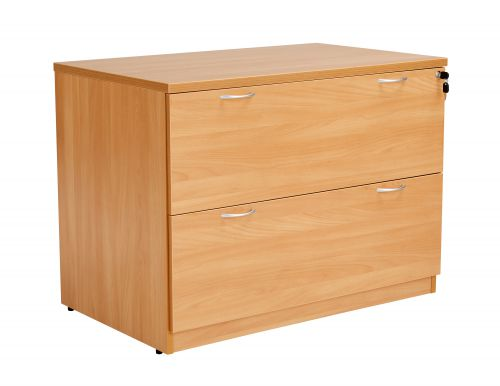 Workmode 2 Drawer Desk High Side Filer - Beech