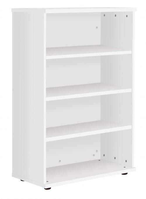 Fraction Plus Bookcase inc. 3 Shelves - White