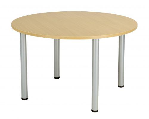 Fraction Plus Circular Meeting Table - Nova Oak