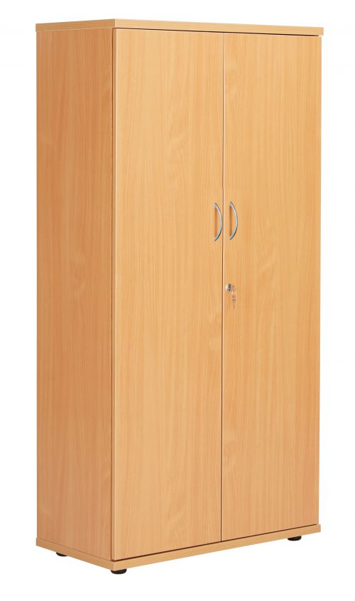 Fraction Plus Double Door Cupboard inc. 3 Shelves - Beech