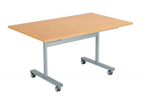 Gyrate Rectangular Flip Top Meeting Table - Beech