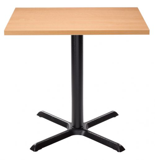 Orlando Square Dining Table - Beech with Black Column