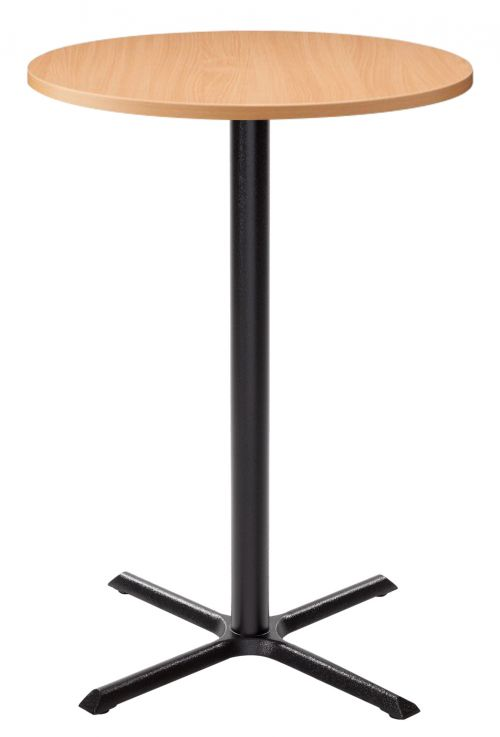 Orlando Poseur Round Dining Table - Beech with Black Column