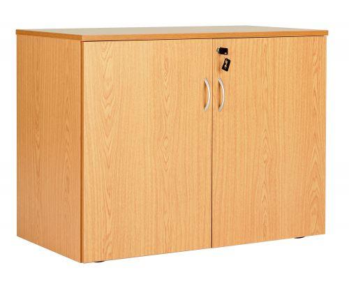 Workmode Double Door Desk End Cupboard - Beech